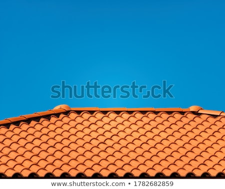 Stock photo: Brown texture tiles under brick