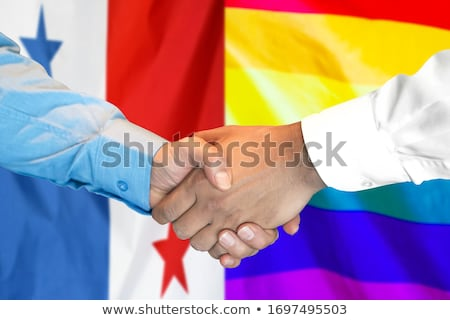Handshake gay fierté main amour Photo stock © m_pavlov