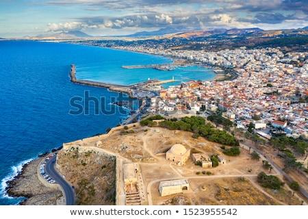 крепость Панорама город Греция ориентир архитектура Сток-фото © tony4urban