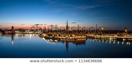 Stockholm city at night  Stock photo © mikdam