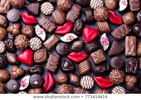 チョコレート · 孤立した · 白 · 背景 · デザート - ストックフォト © oleksandro
