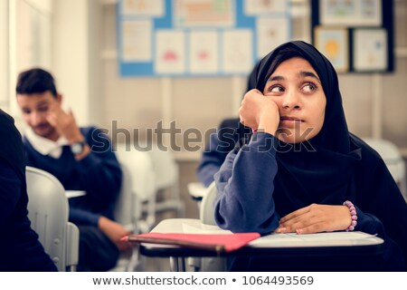 A worksheet with a young girl Stock photo © bluering