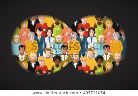 表示 双眼鏡 群衆 人 男 女性 ストックフォト © Evgeny89