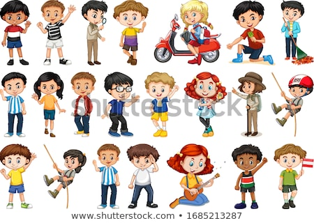 Boys and girls in many actions Stock photo © bluering