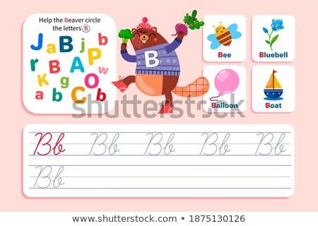 Mektup kunduz örnek çocuklar çocuk arka plan Stok fotoğraf © bluering