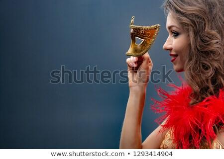 gorgeous woman in masquerade mask stock photo © artfotodima