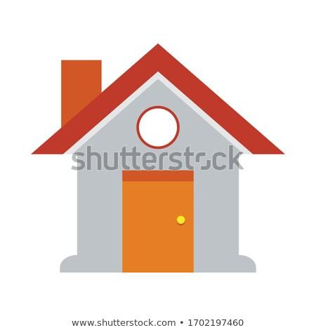 Stockfoto: Nieuwe · stijl · huis · clipart · afbeelding · familie