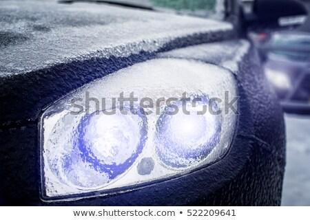luminous icy car headlight stock photo © Phantom1311