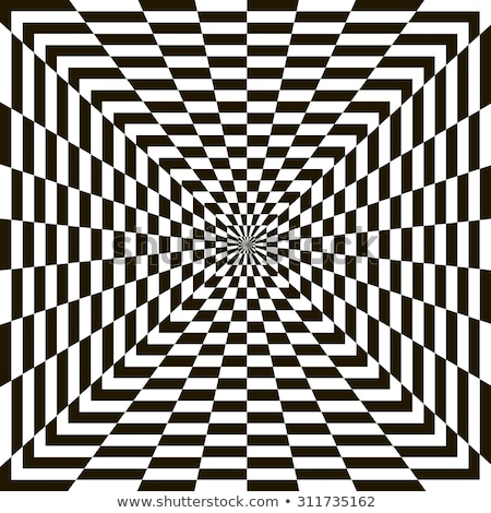 vector black and white spiral rectangles swirl abstract optical illusion stock photo © creatorsclub