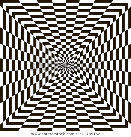 Vektor feketefehér spirál örvény absztrakt érzekcsalódás Stock fotó © CreatorsClub