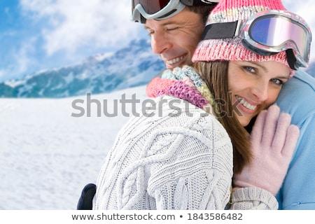 neige · chutes · de · neige · hiver · belle · saison · d'hiver - photo stock © lightsource