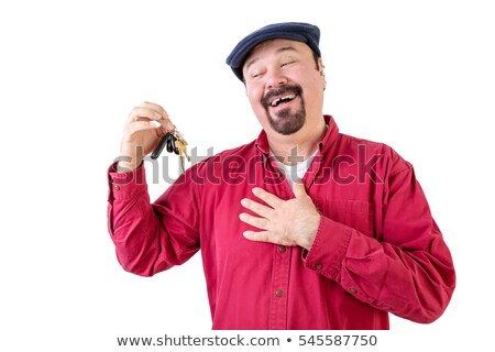 Delighted middle aged man holding car keys Stock photo © ozgur