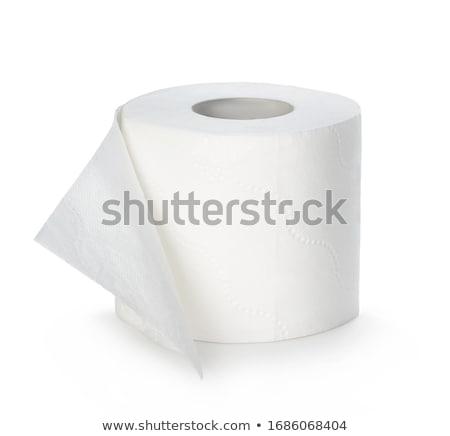 トイレットペーパー ホーム バス クリーン トイレ ストックフォト © janssenkruseproducti