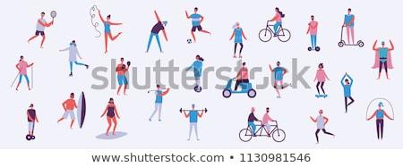 sport · sticker · illustratie · verschillend · bal · leuk - stockfoto © bluering