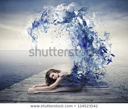 Dancer sea splash Stock photo © alphaspirit