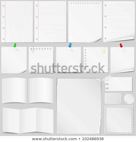 Stok fotoğraf: Sticky Papers With Pushpins