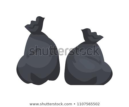 zwarte · onzin · zak · prullenbak · illustratie · achtergrond - stockfoto © robuart