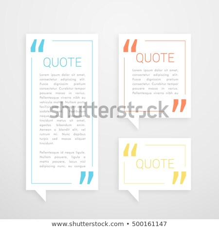 set of three quotation chat bubble in minimal white style Stock photo © SArts