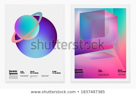 cosmos music party event flyer template in modern creative style Stock photo © SArts