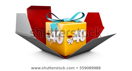 3d illustration red discount 40 percent off and in the gray box stock photo © tussik