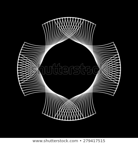 Stock photo: White Abstract Fractal Shape