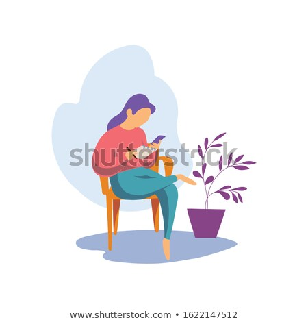 mulher · escrita · caderno · preto · e · branco · azul · camisas - foto stock © massonforstock