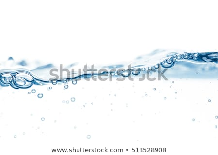 wavy flowing water or blue liquid on transparent background with Stock photo © SArts