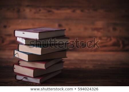 汚い 古い 図書 待って 読者 木製 ストックフォト © feedough
