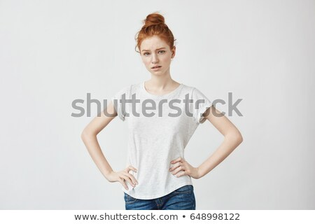 teenager model with arms akimbo Stock photo © Giulio_Fornasar