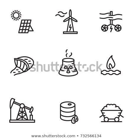 tidal energy line icon stock photo © rastudio