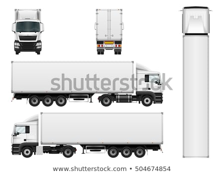 Camion longtemps fret transport route Photo stock © Filata