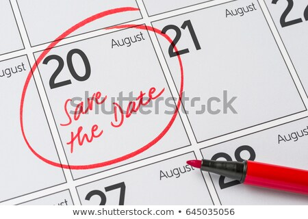 save the date written on a calendar   august 20 stock photo © zerbor