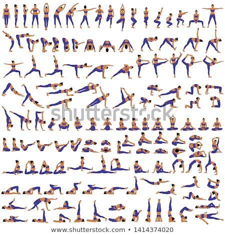 Illusztráció jóga póz vektor eps 10 lány Stock fotó © Istanbul2009
