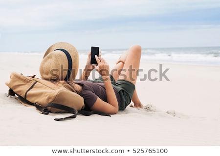 smartphone on the beach Stock photo © adrenalina
