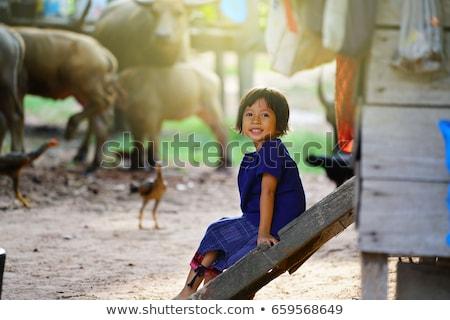Chłopca uśmiechnięty ilustracja szczęśliwy dziecko tle Zdjęcia stock © bluering