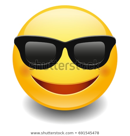 Emoji - smart smiling orange with glasses. Isolated vector. Stock photo © RAStudio