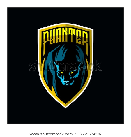black panther angry gamer mascot stock photo © krisdog