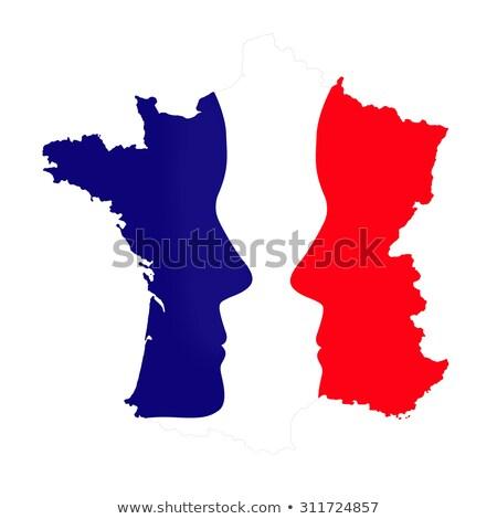 Eleição francês bandeira distintivo isolado branco Foto stock © Oakozhan
