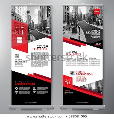banner · zwarte · 3D · gerenderd · afbeelding · presentatie - stockfoto © sarts