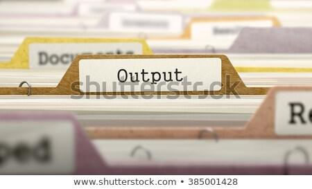 productividad · negocios · carpeta · catálogo · tarjeta · primer · plano - foto stock © tashatuvango