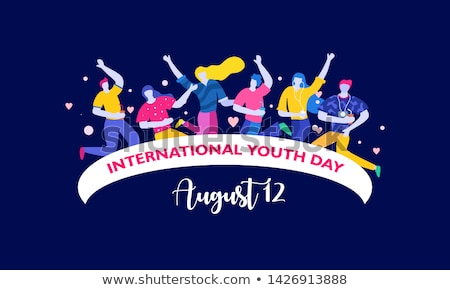 12 august international youth day stock photo © olena