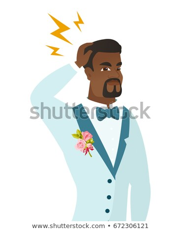 African groom with lightning over his head Stock photo © RAStudio