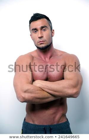 Sérieux torse nu homme crossfit gymnase Photo stock © wavebreak_media