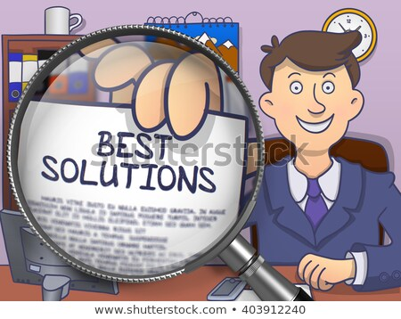 Problem Solving through Magnifier. Doodle Style. Stock photo © tashatuvango