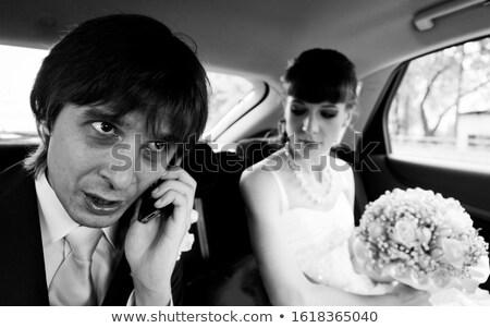 mobiltelefon · férfi · kabala · karakter · rajz · illusztráció - stock fotó © rastudio