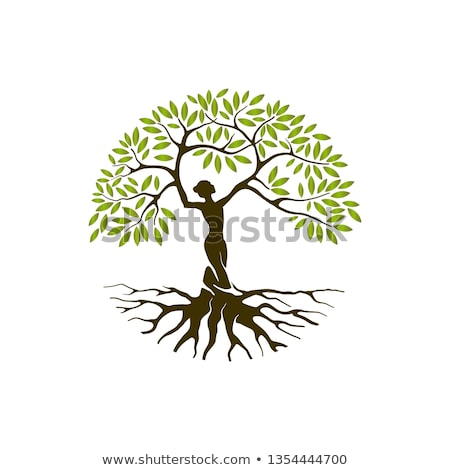 Stock photo: Woman at the tree