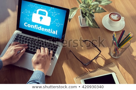 confidential on binder blurred image stock photo © tashatuvango