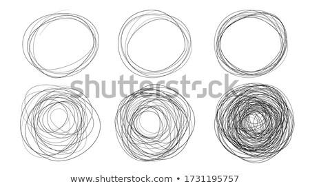Kör rajz kéz ceruza absztrakt Stock fotó © tony4urban