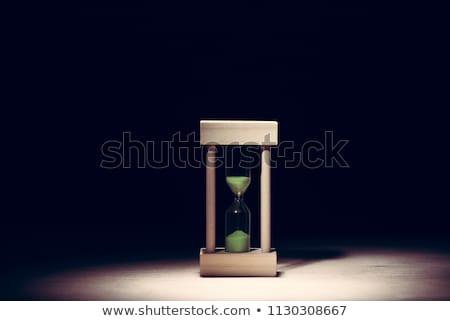 bleu · sablier · isolé · blanche · horloge · sable - photo stock © idesign
