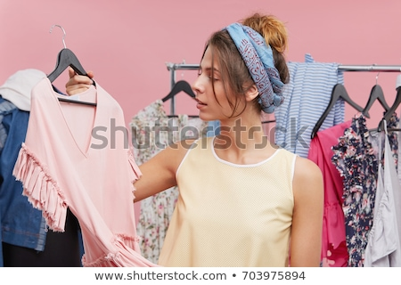 Nő öltöző szín póló stock tőzsde Stock fotó © IS2